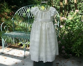Handmade flower girl or baptism dress available in sizes 1..2..3..4..5..6..7..8 and 10  in white or ivory
