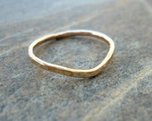 Pointy Gold Filled Ring, Gold Ring, Stacking Ring, Hammered Gold Ring, Slim Ring, Skinny Stacking Ring, Stacked Gold Ring,