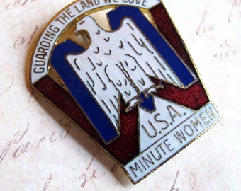 Vintage Minute Woman Medal 1950s Anti Communist Group McCarthyism