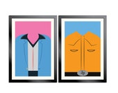 True Stories Outfit Prints - David Byrne and John Goodman