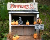 Bored to death at the pumpkin stand