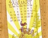 Letterpress Wall Calendar - Now on Sale 50 % OFF