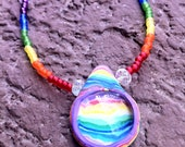 "SALE...17"" Rainbow Necklace"