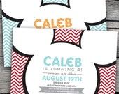 Mickey Mouse Birthday Party Invitations. Option to Print