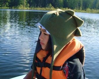 Dinosaur Hats green fleece animal