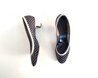 Vintage 50s Pumps | Mesh Heels | 1950s Shoes | Size 8