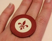 Fleur de Lis casino pocker chip ring