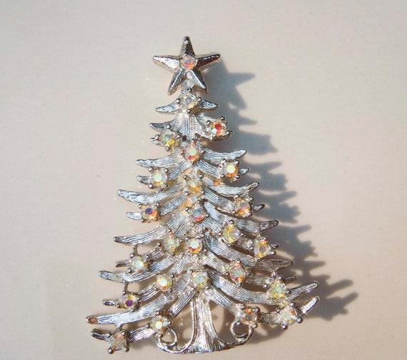 Vintage Tancer II silver Christmas Tree AB Stones