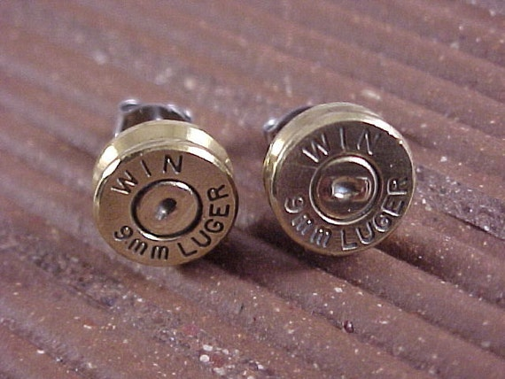 Bullet Earrings Winchester 9mm Luger