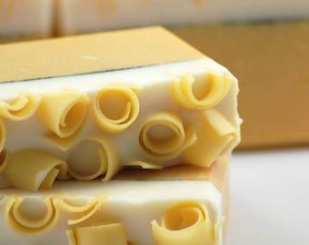 Sweet Lemon Cream Soap Handmade Cold Process, Vegan Friendly