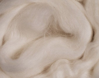 British Falkland/ Undyed Wool Roving/ Combed Top/ Spinning Top/ 16 oz/ Alba Ranch/ Needle Felting/ Felting/ Roving/ Wool Top/ White Wool/