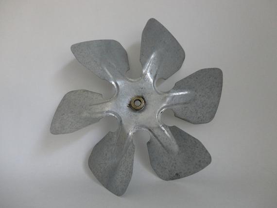 Vintage Propeller Fan : Vintage galvanized metal fan blade propeller wind mill