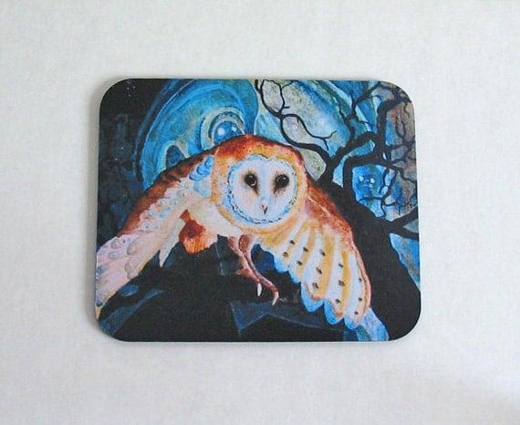 Mousepad Owl Night Guardian 1