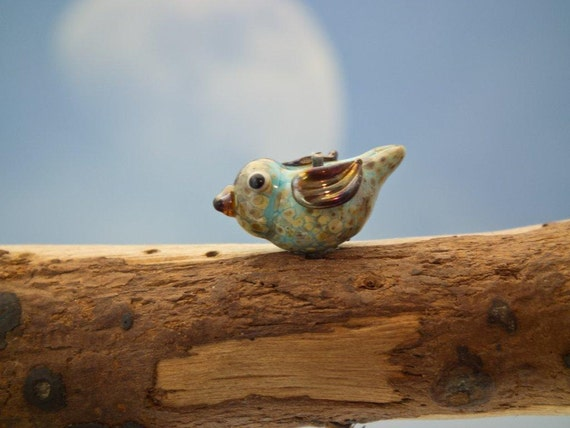 Sweety..... lampwork bird bead... sra