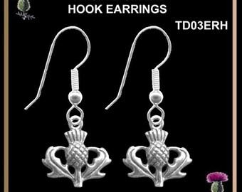 Small Thistle Earrings - Shepherd's Hook