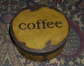 Paper Mache Vintage Coffee Box
