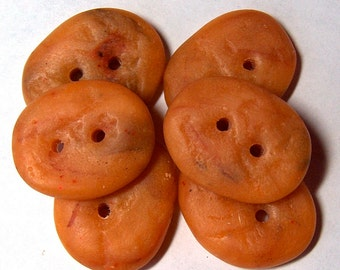 Handcrafted Quartzite Caramel color Rock Polymer Clay Buttons Stone No 26B
