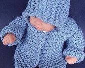 KNITTING PATTERN,/ Baby sweater -CARDIGAN/Fits Newborn to 3months/ Beginner level/  Knit in rectangles, #38