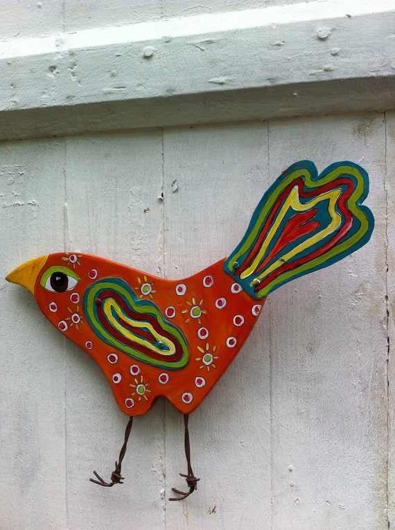 Whimsical Bird Repurposed Art