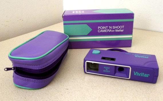 Vintage Purple and green Vivitar Point n Shoot camera 110 film - never used