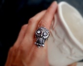 Spooky Little Owl Ring (RESERVED for CARRIE)