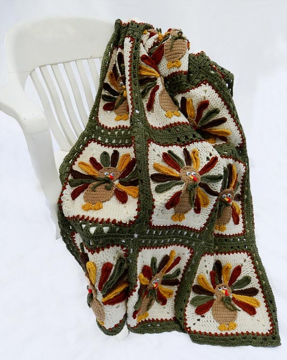 Thanksgiving Turkey Afghan Pattern - PB117