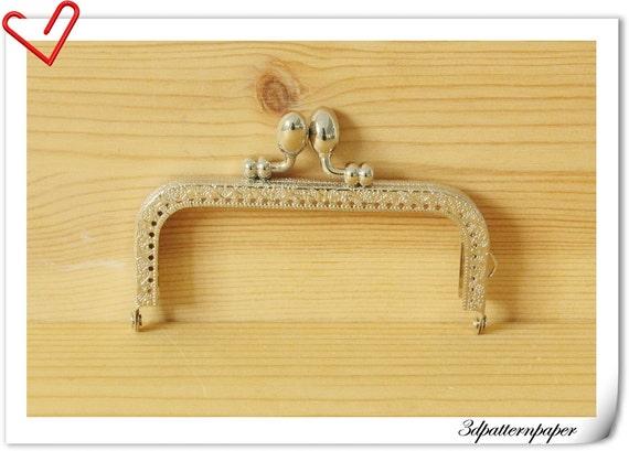 Coin Purse frame for make a purse / bag  4 inch x 2 inch Silver C31