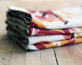 Fall Harvest Fabric Napkins, reusable mustard