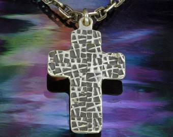Webbed Cross, Sterling Silver