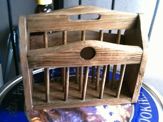 Mini Wooden Magazine Rack Napkin Holder PIF