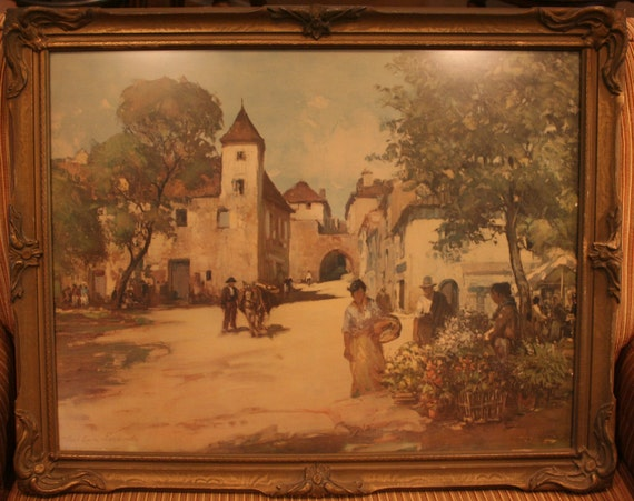 The Flower Vendors Impressionist Print In Period By