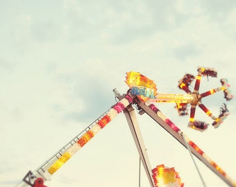 BUY 2 GET 1 FREE Carnival Photography, Nursery, Kids Room, Fpoe, Magical, Vintage Inspired, Bokeh, Wall Decor - Fire Ball