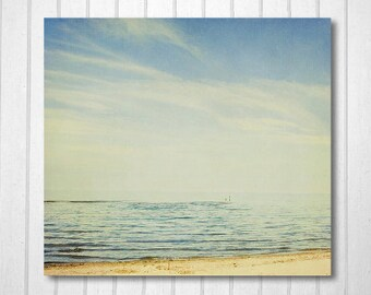 Beach Photography, Cottage Decor, Nature Photography, fpoe, Lake Photo, Home, Office Decor, Wall Decor, Calm, Blue - Friends in