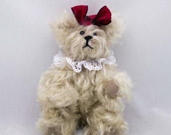 Miniature Mohair Teddy Bear Annabelle Leigh Handmade