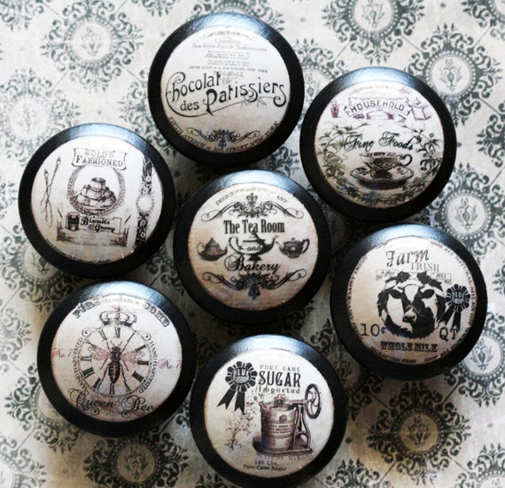 Vintage Knobs Confection Original Designs Door Pull 7 pc Set