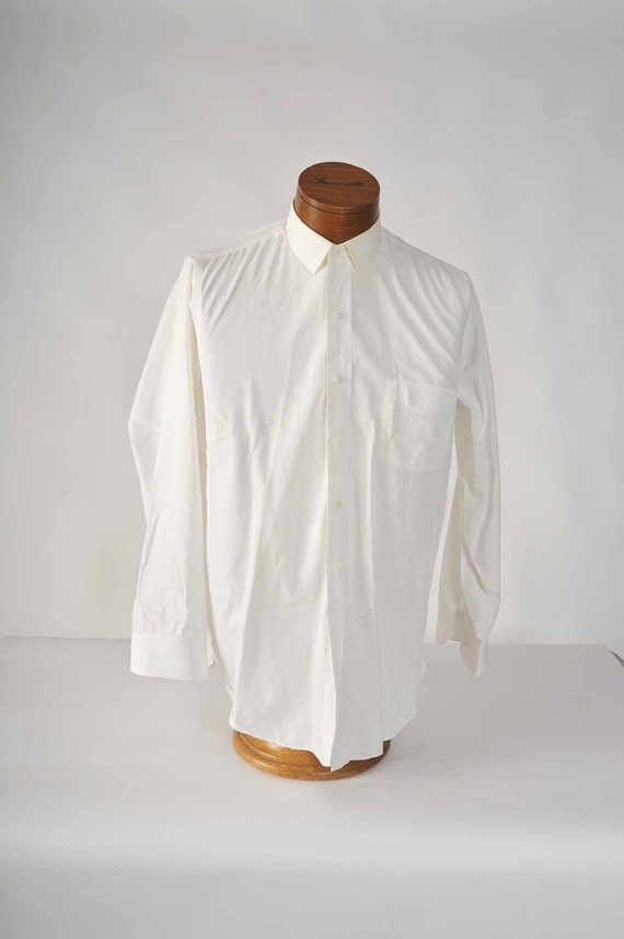 Vintage 1950s White Long Sleeve Dress Shirt by Arrow