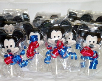 Chocolate Mickey Lollipops