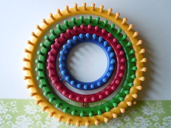4 Knifty Knitter Round Looms Knitting Kit DIY