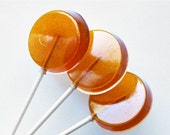 """Hot and spicy 2"""" flat hard candy lollipops - 5 pc. - READY TO SHIP"""