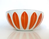 Cathrineholm Large Lotus Bowl in Orange on White