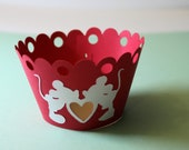 Mickey Loves Minnie Cupcake Wrappers--Set of 12--FREE SHIPPING