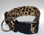 Leopard - Soft Fabric Dog Collar - Medium - Large
