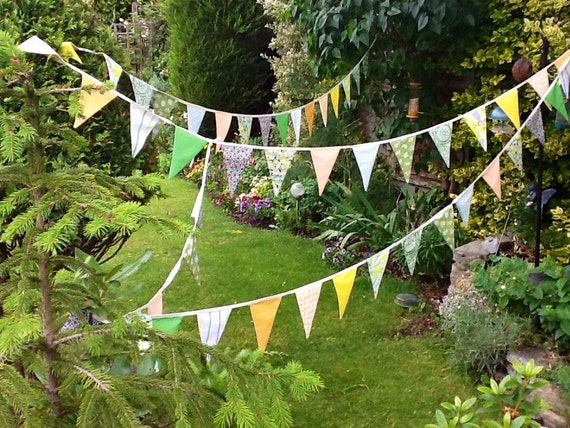 Extra Long Bunting -  50 flags - 32 ft Long, weddings, parties, decoration