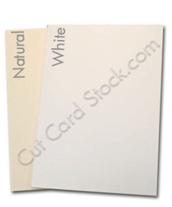 COUGAR Opaque WHITE Heavy 130 lb. cardstock 8.5 x 11- 50 sheets