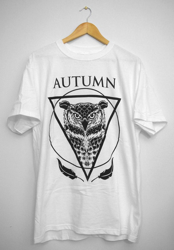 Wise Owl White Available Sizes S,M,L,XL