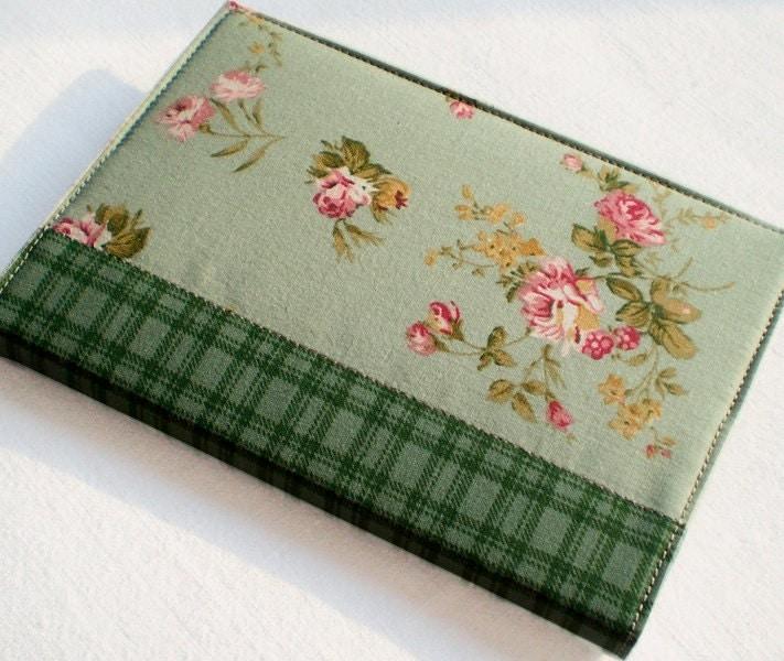 Fabric Journal Cover Green Garden A6 Notebook Diary