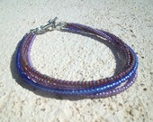 Purple Seed beaded Bracelet