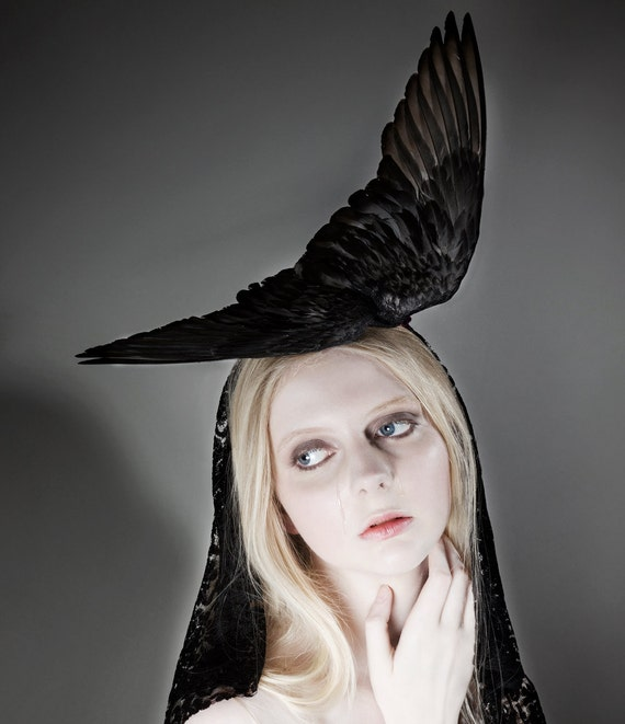 "The Magical Pigeon Wing Headpiece ""Love Of My Father"""