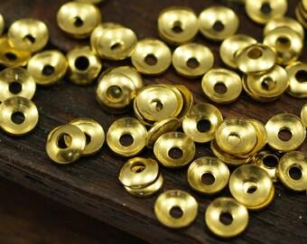 500 Raw Brass Bead Caps  (4 Mm) Brs 103 ( A0226 )