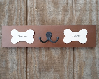 Personalized leash hooks purchase by 12 15 dog lovers wall hooks your pups' names gift rescue pet owners BeachHouseDreamsHome Outer Banks